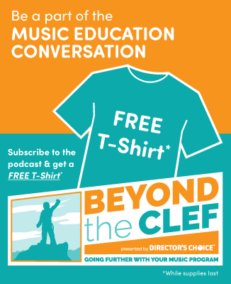 Be Part of the Music Education - Subscribe to the podcast to get a free t-shirt